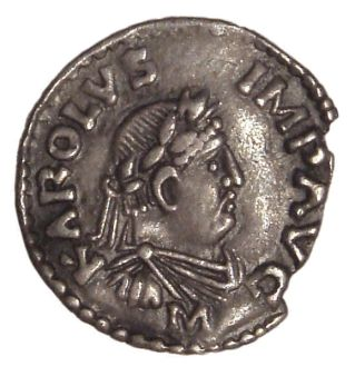 Coin with Carlemagne