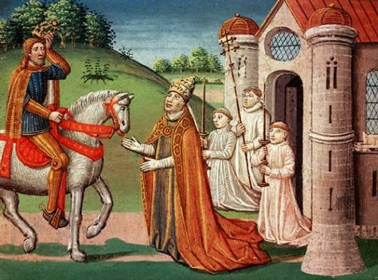 Charlemagne and the Pope