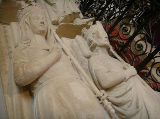 Bertrada and Pepin in Basilica of St. Denis