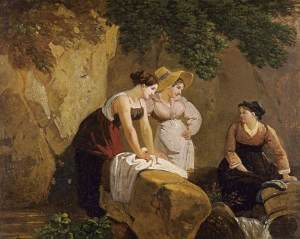 Washerwomen in a Grotto