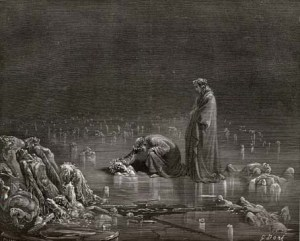 19th century illustration of the Inferno by Gustave Dure