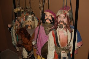 Sicilian marionettes depict one of the Roland legends (photo by Tim Heath).