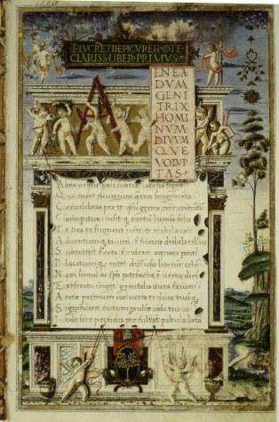 De rerum natura manuscript
