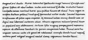 A sample of Poggio's handwriting.