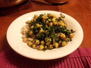 Dandelions and Chickpeas over Barley