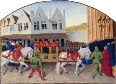 Entrée de l'empereur Charles IV à Saint-Denis