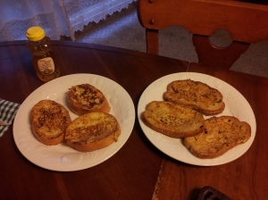 Two versions of the same dish, French toast, with the one gracing an aristocratic table on the left.