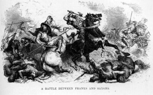 Alphonse de Neuville's 19th century interpretation of the Franks fighting the Saxons
