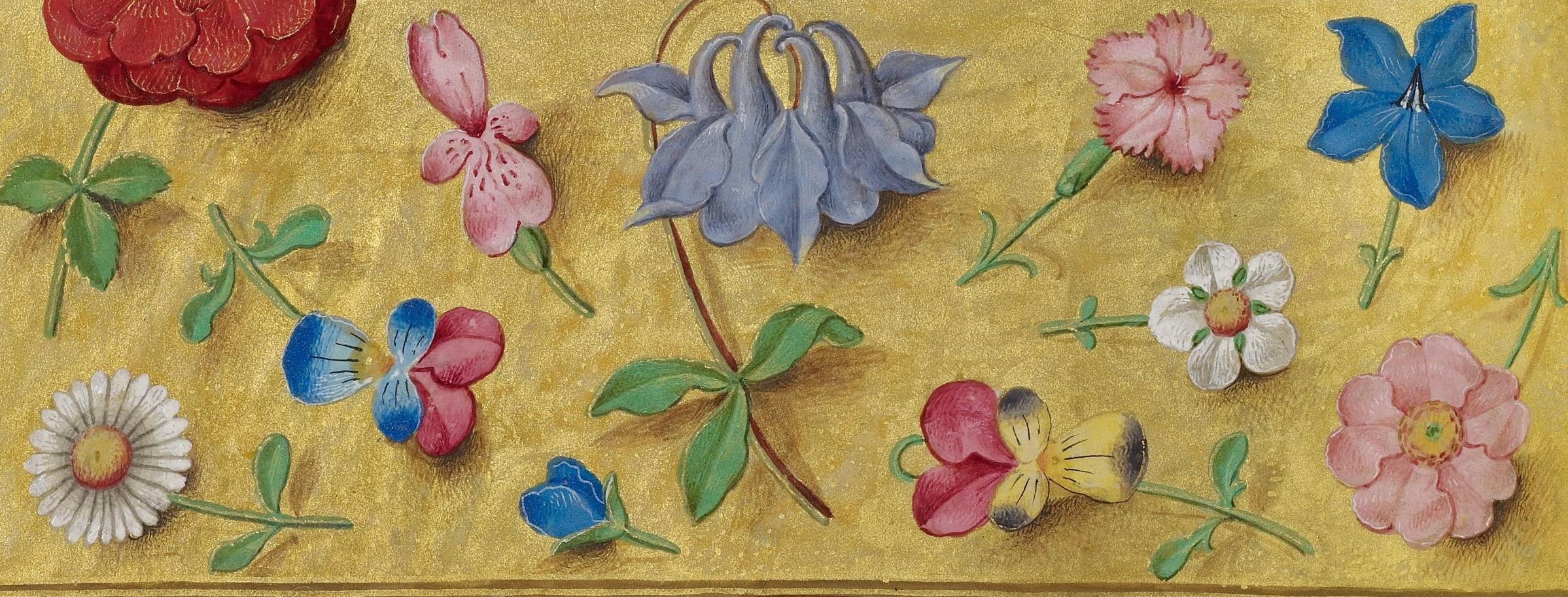 Medieval flower detail