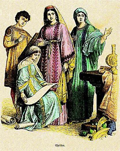 Costume of 4th-6th century Christians