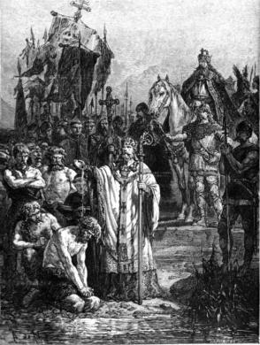 Saxon baptism
