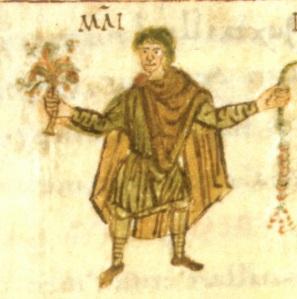 9th century manuscript page from Salzburg